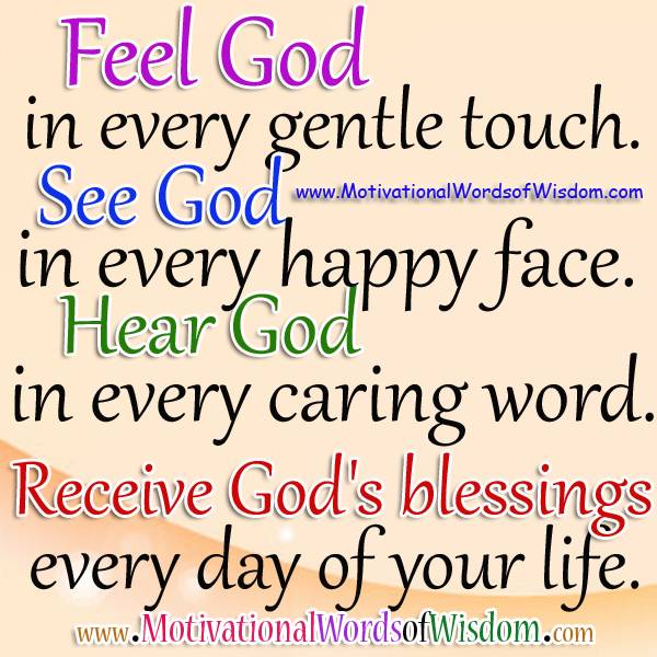 Motivational Quotes About Gods Blessings. QuotesGram