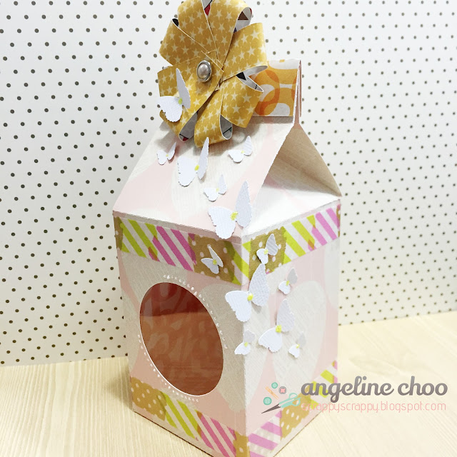 ScrappyScrappy: Butterfly bow milk carton box #scrappyscrappy #thecuttingcafe #svg #cutfile #milkcarton #giftbox