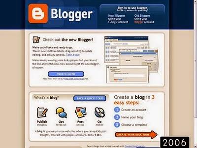 2006 yılında blogger