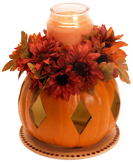 Fall Wedding Centerpieces Pumpkin With Candle