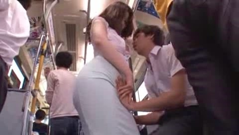 Breast touching hook cunt beautiful girls on the bus