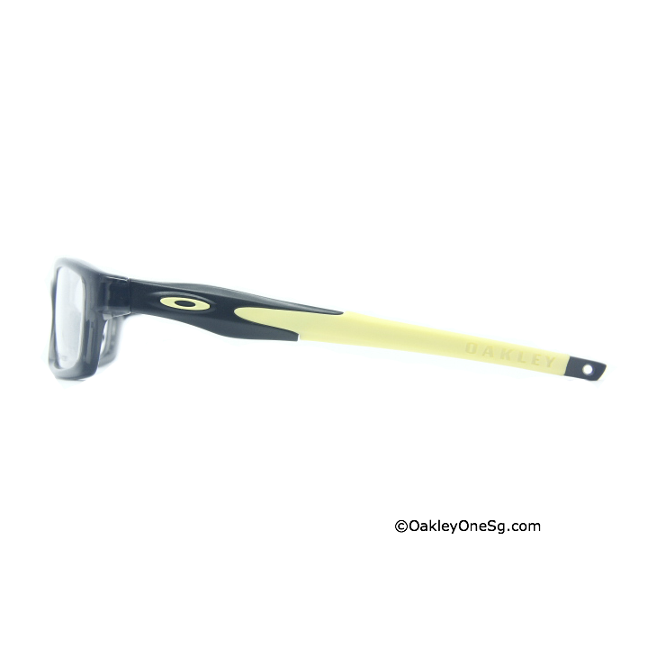 Oakley Crosslink Temple - Satin Black Yellow Ear Sock