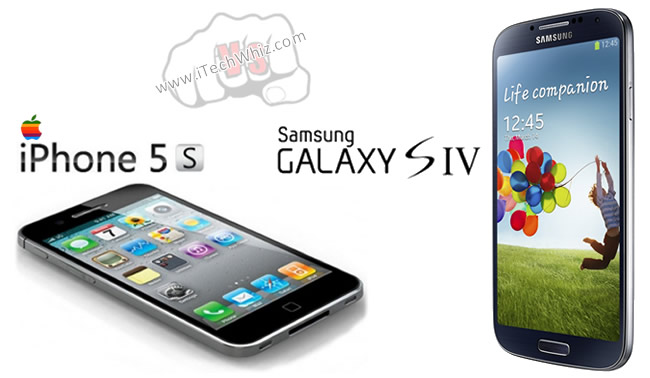 Samsung GS4 vs iPhone 5S Specs and Features