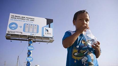 Primeiro outdoor do mundo capaz de gerar água potável