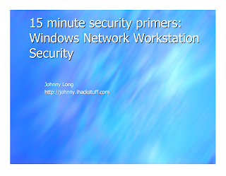 15 minutes security primers by Johnny Long Mediafire Ebook