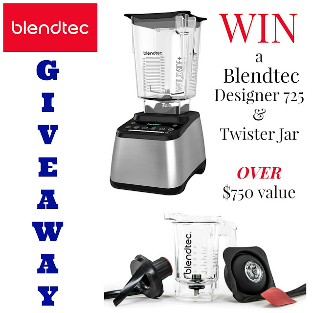 Win a Blendtec 725 blender and Twister Jar, an over $750 value. You have through February 5, 2016 to enter. www.bobbiskozykitchen.com