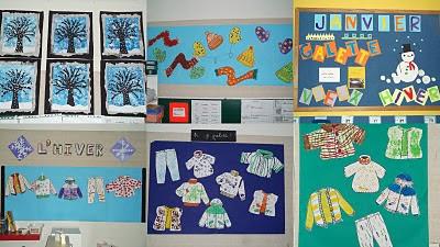 Ecole notre dame de terves arts visuels - Activite hiver maternelle ...
