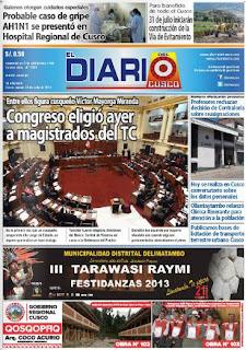 el diario de cusco 18-7-13