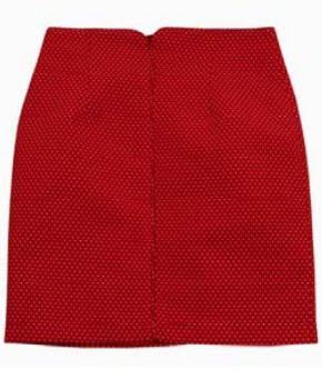 faldas cortas rojas
