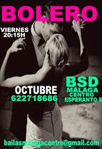 BOLERO EN OCTUBRE, LOS VIERNES A LAS 20:15H, EN BSD BAILAS SOCIAL DANCE MÁLAGA CENTRO .