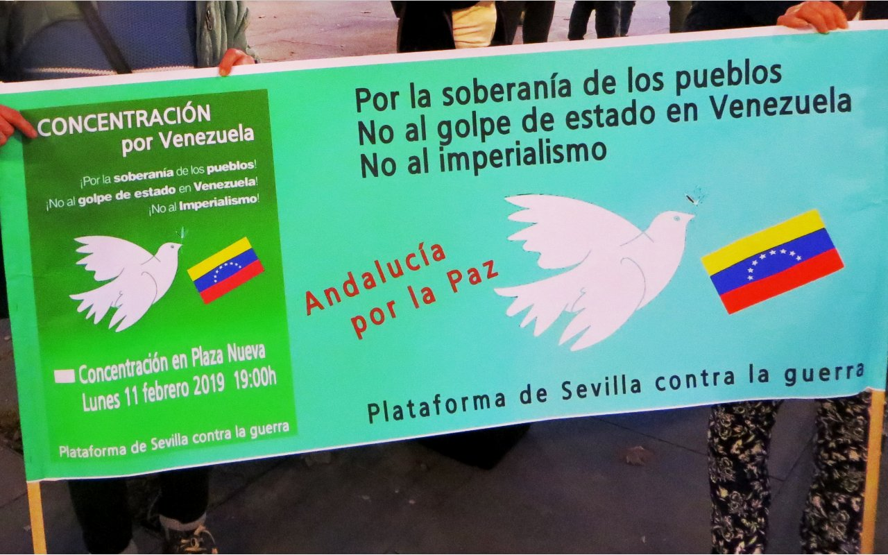 CONCENTRACIÓN POR VENEZUELA. Lunes 11 febrero ,19:00h Plaza Nueva. Sevilla.