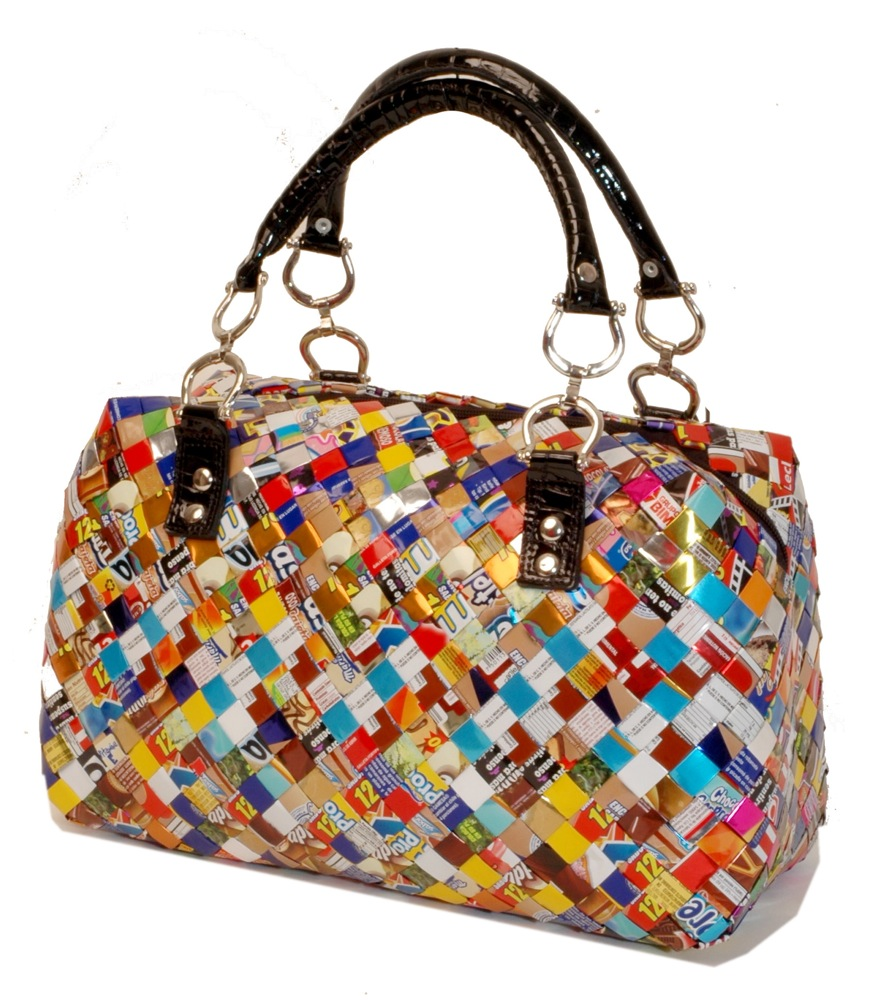 Elegant gift for christmas recycled candy wrapper handbags and purse