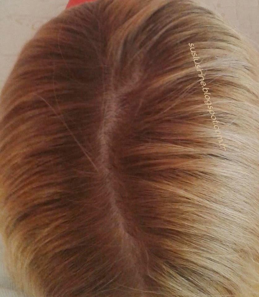 Beauty M20 Pearl Blond sac boyasi ile dip boyama