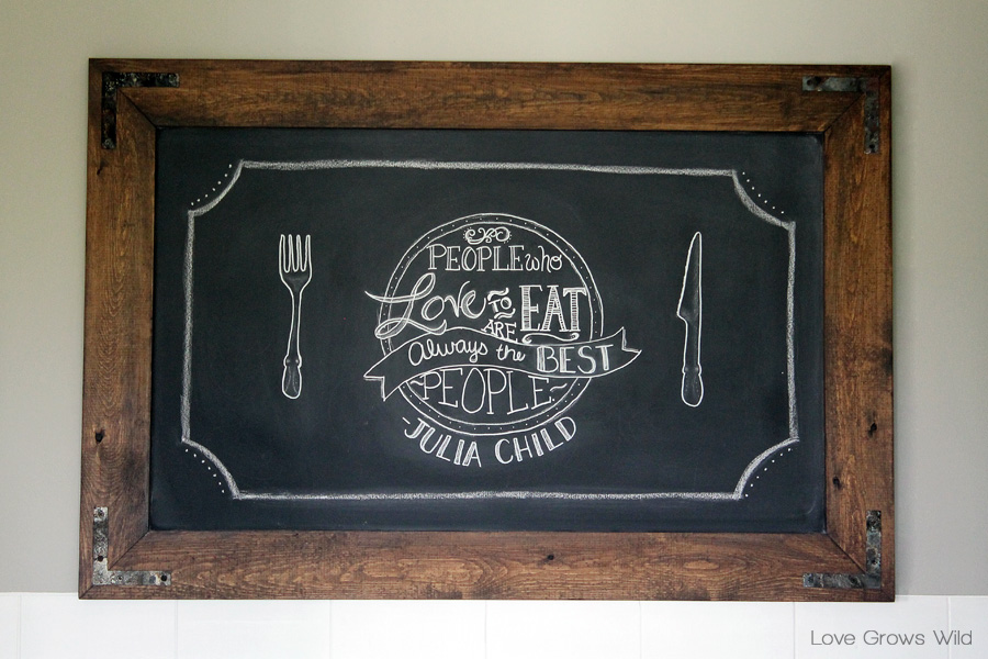 learn how to make this gorgeous diy rustic industrial chalkboard for your home from lovegrowswild