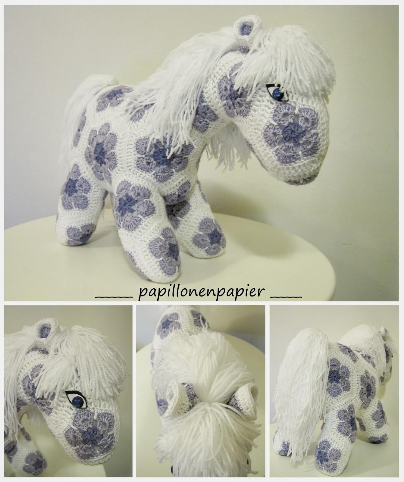 Papillon en papier: African Flower Horse - Hermione