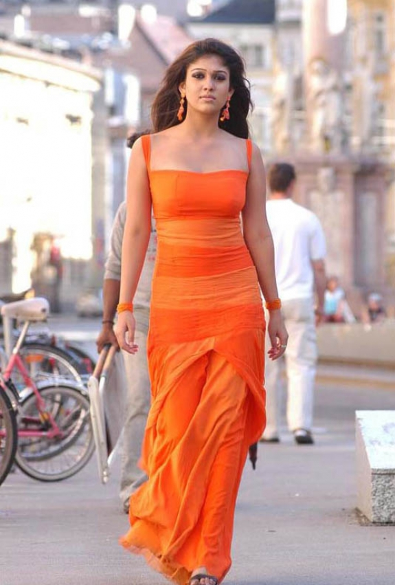 Nayanthara in orange dress - Nayanthara in Orange Dress - HOT