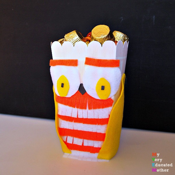 Halloween Popcorn Box Blog Hop 2015: Candy Corn Owl! #popcornboxparty2015