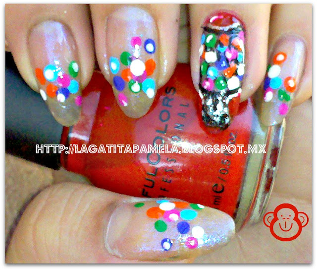 bubble gum machine nails
