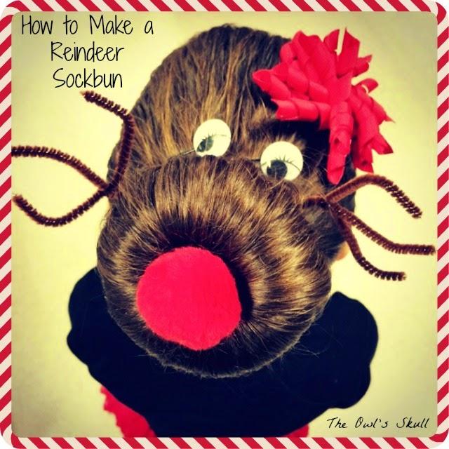 Reindeer Sock Bun