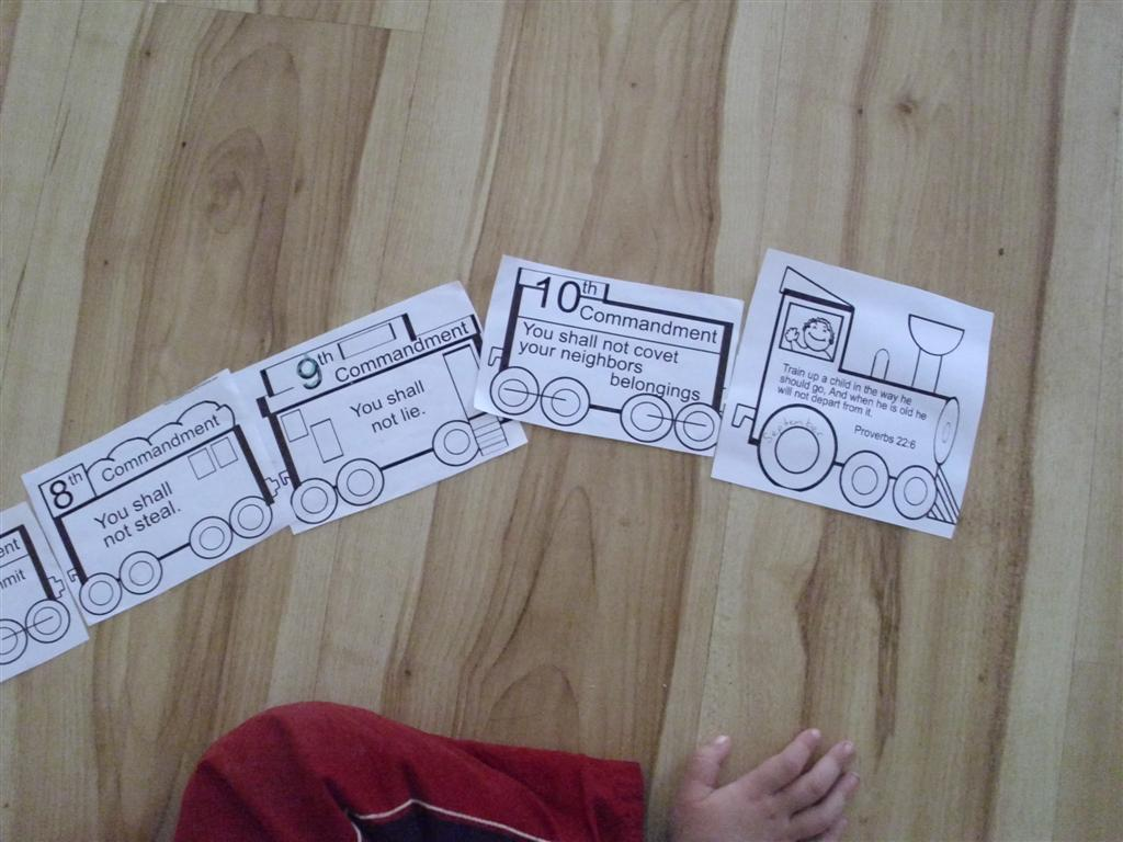 the do it yourself mom train themed preschool activity numbers