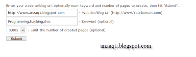 websubmission toward search engines