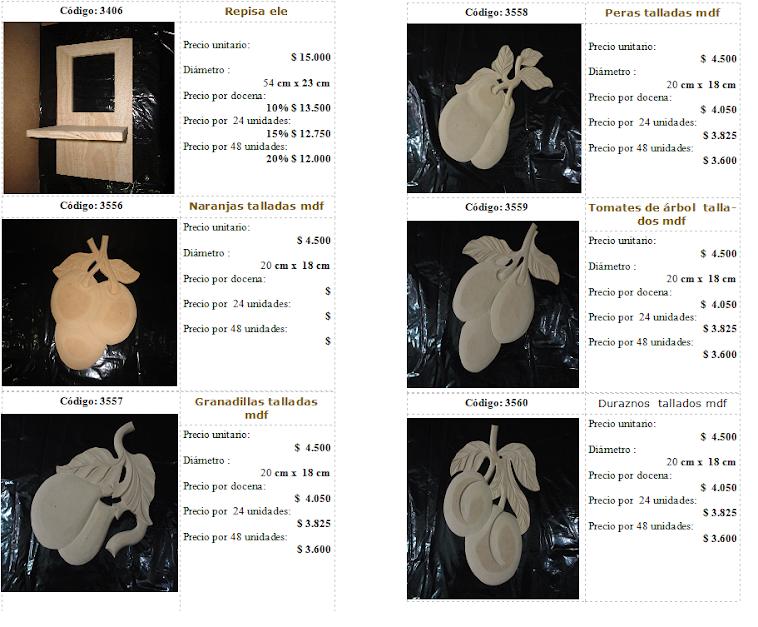 catalogo de madera