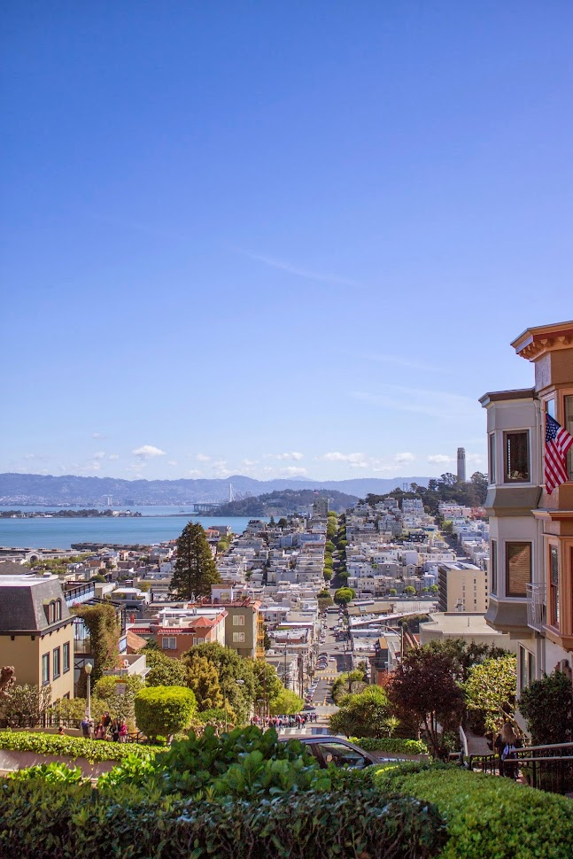 lombard street, view from lombard street, lombard