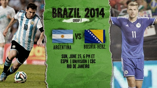 ARGENTINA vs. BOSNIA AND HERZEGOVINA  2014 FIFA WORLD CUP
