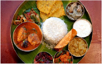 South Indian meals in thali