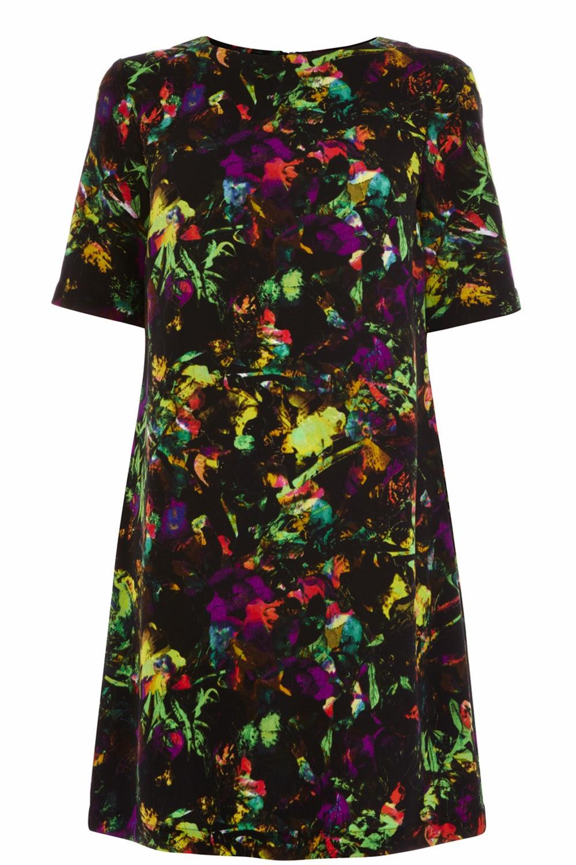 warehouse print dress
