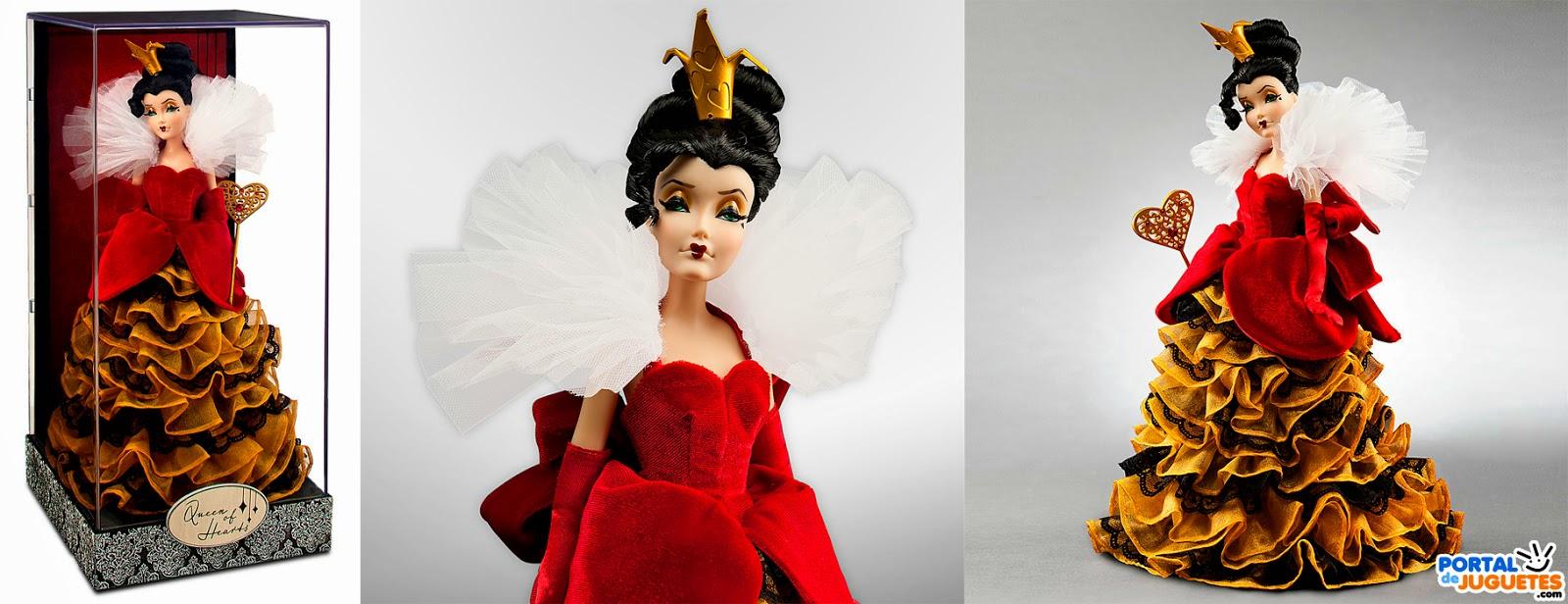 muñeca reina de corazones villanas disney