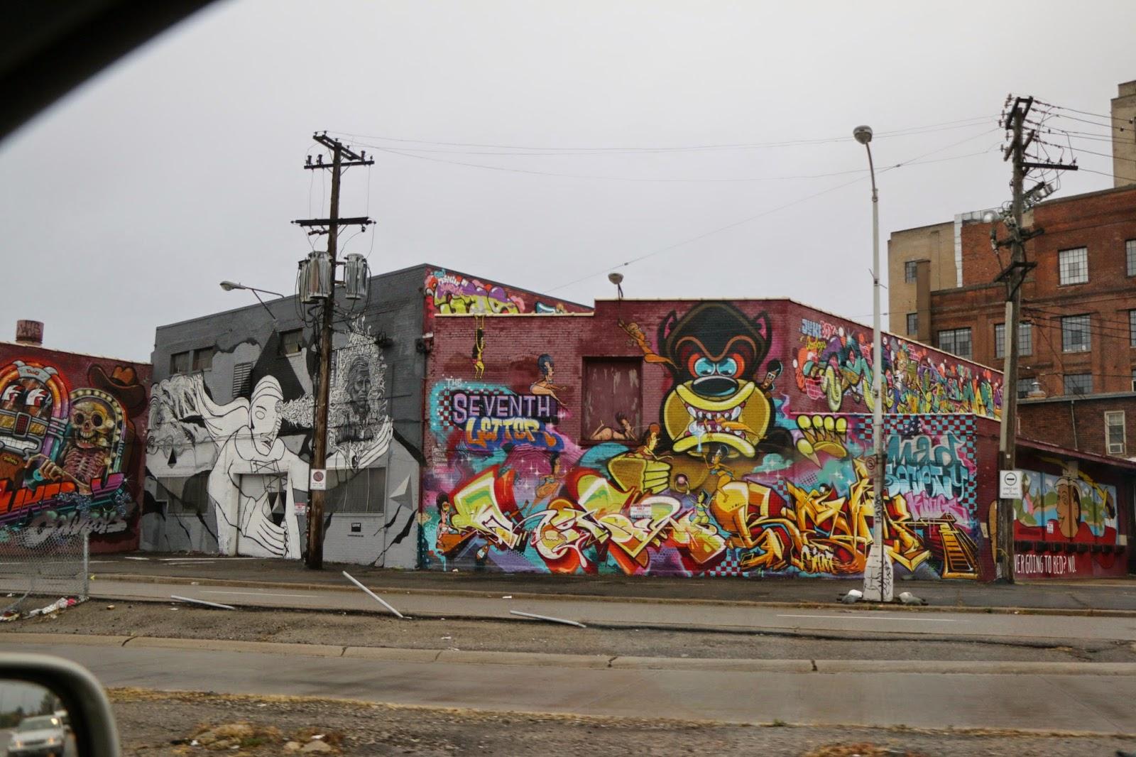 граффити детройта