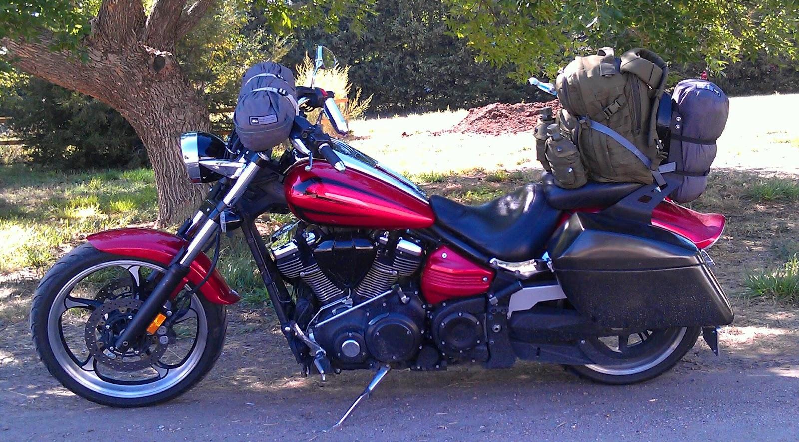 Ribbon of highway august 2014 for Yamaha raider hard saddlebags