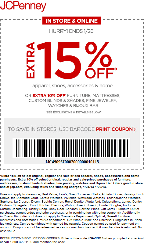 jcp coupon 2015