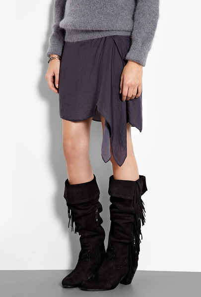 Louella Fringed Knee High Boots