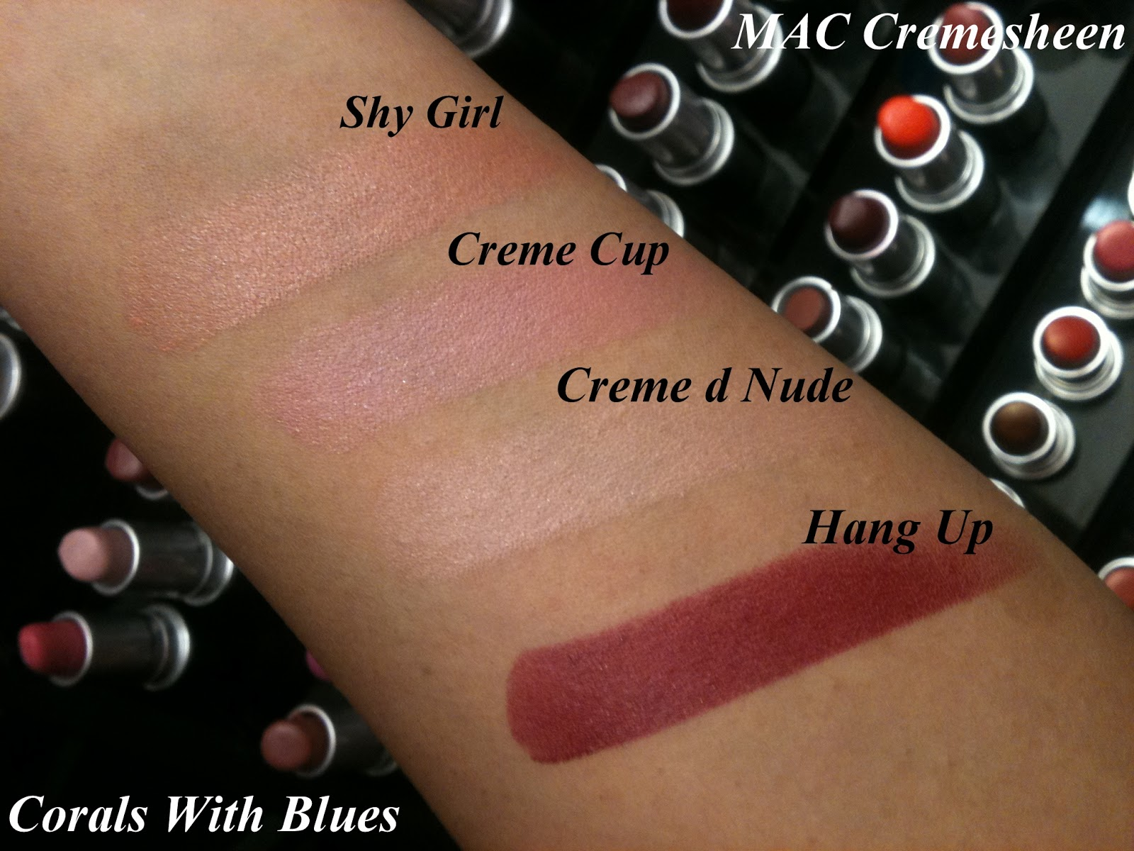MAC Cremesheen Lipstick Swatches – Corals With Blues ~ Fashion and ...