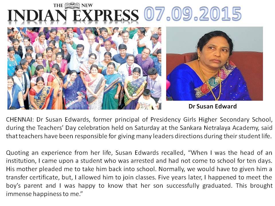 A Mahalingam(Mahali), Sankara Nethralaya, Chennai: Teachers ...