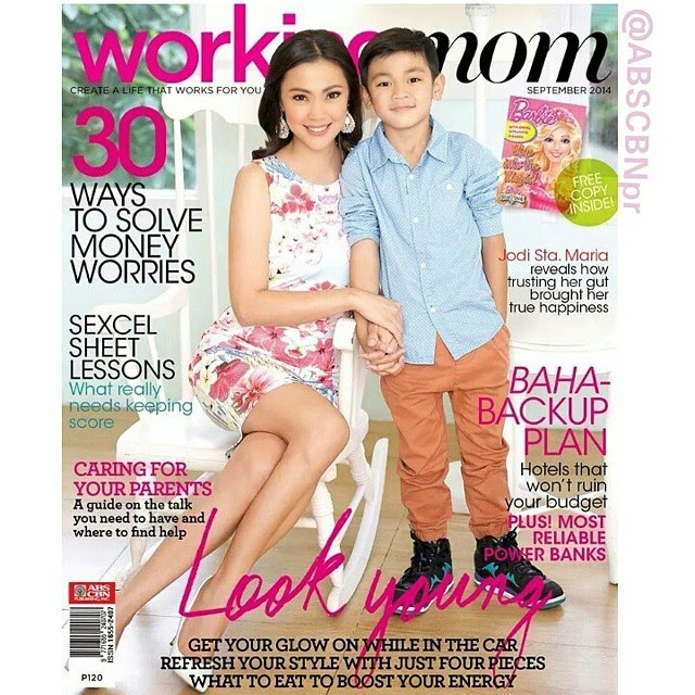 Jodi Sta. Maria and son Thirdy on Working Mom Sept. 2014 cover