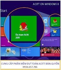 Dự toán Acitt trên Windows 8