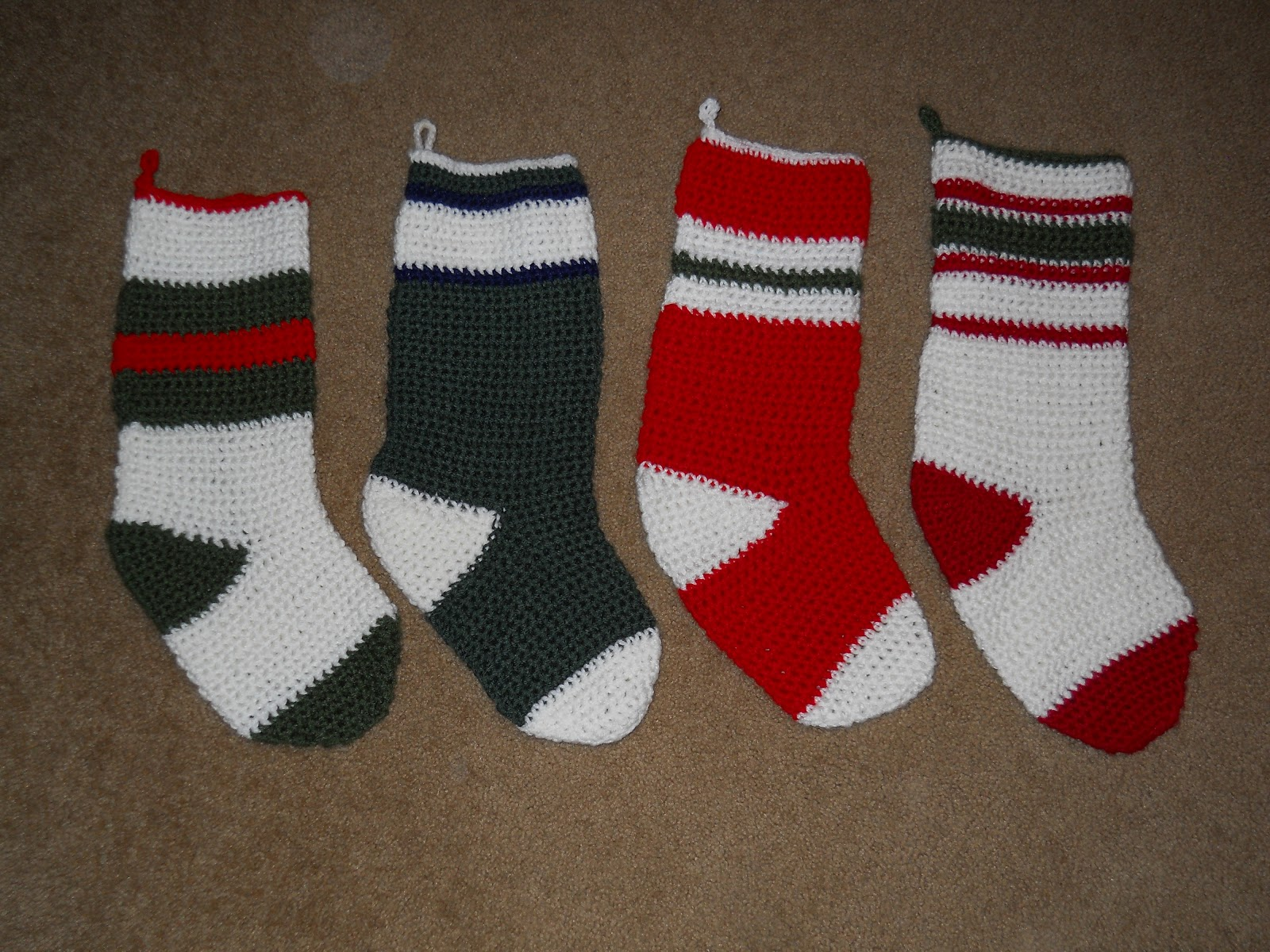 Crochet Pattern Central Christmas Stockings : Crafting Central: Crocheted Stockings