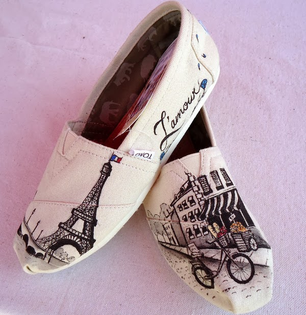 Paris Themed TOMS Shoes