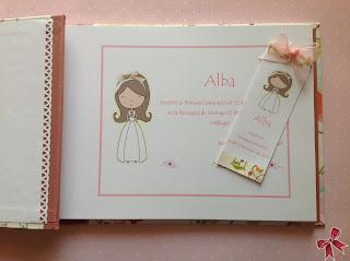 Libro Primera Comunión y marca-páginas cartonnage