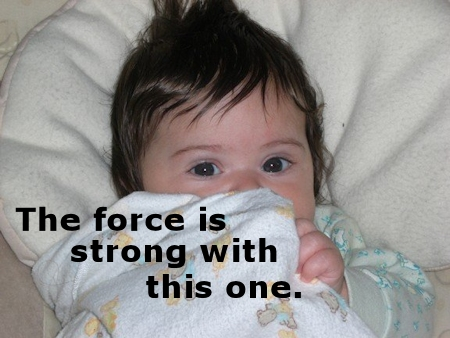 Star Wars quote with cute baby.