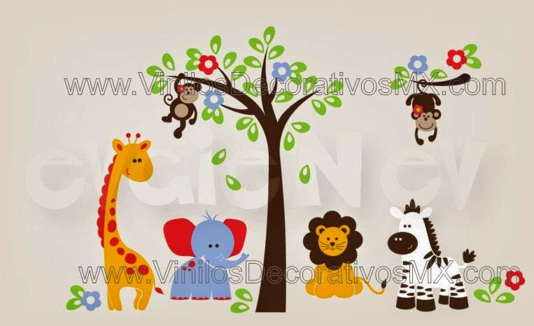 Perchero infantile de vinil decorativo 22 arbol y Vinilos infantiles de arboles