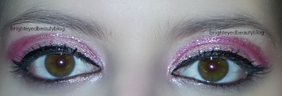 Third look of the Pretty in Pink eye look series- glitter!