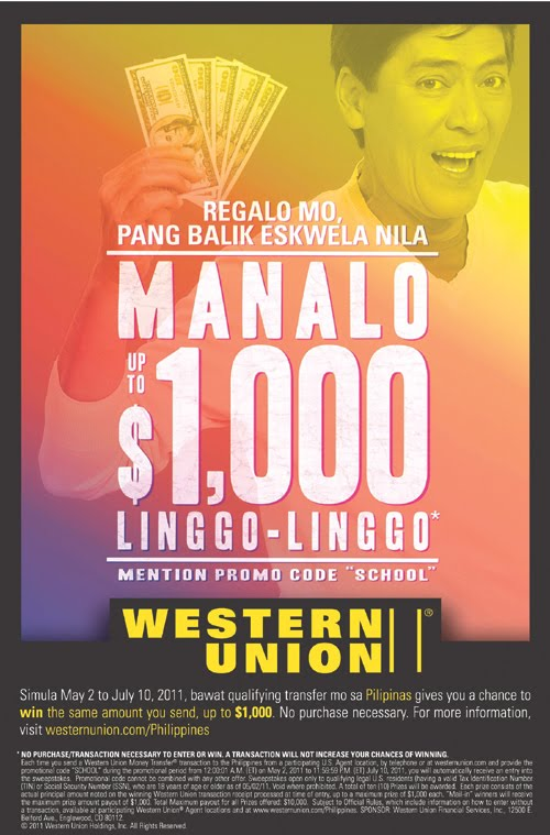 how to send money to western union in philippines