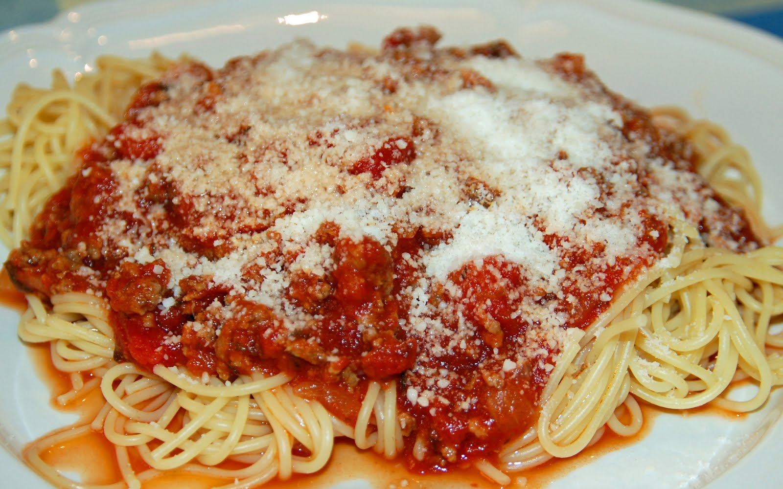 Southern Lady's Recipes: Spaghetti with Meat Sauce