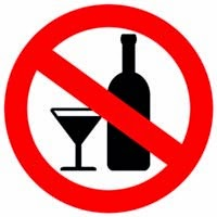 Do not drink alcohol sign
