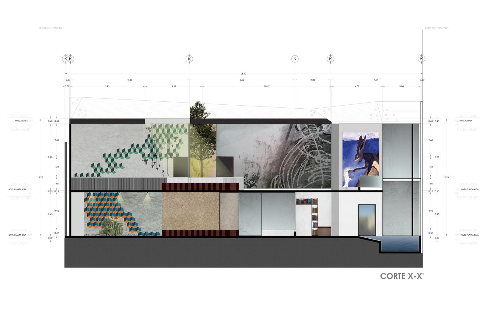 Arquitectura cortes arquitect nicos de mi tesis for Arquitectura nota de corte