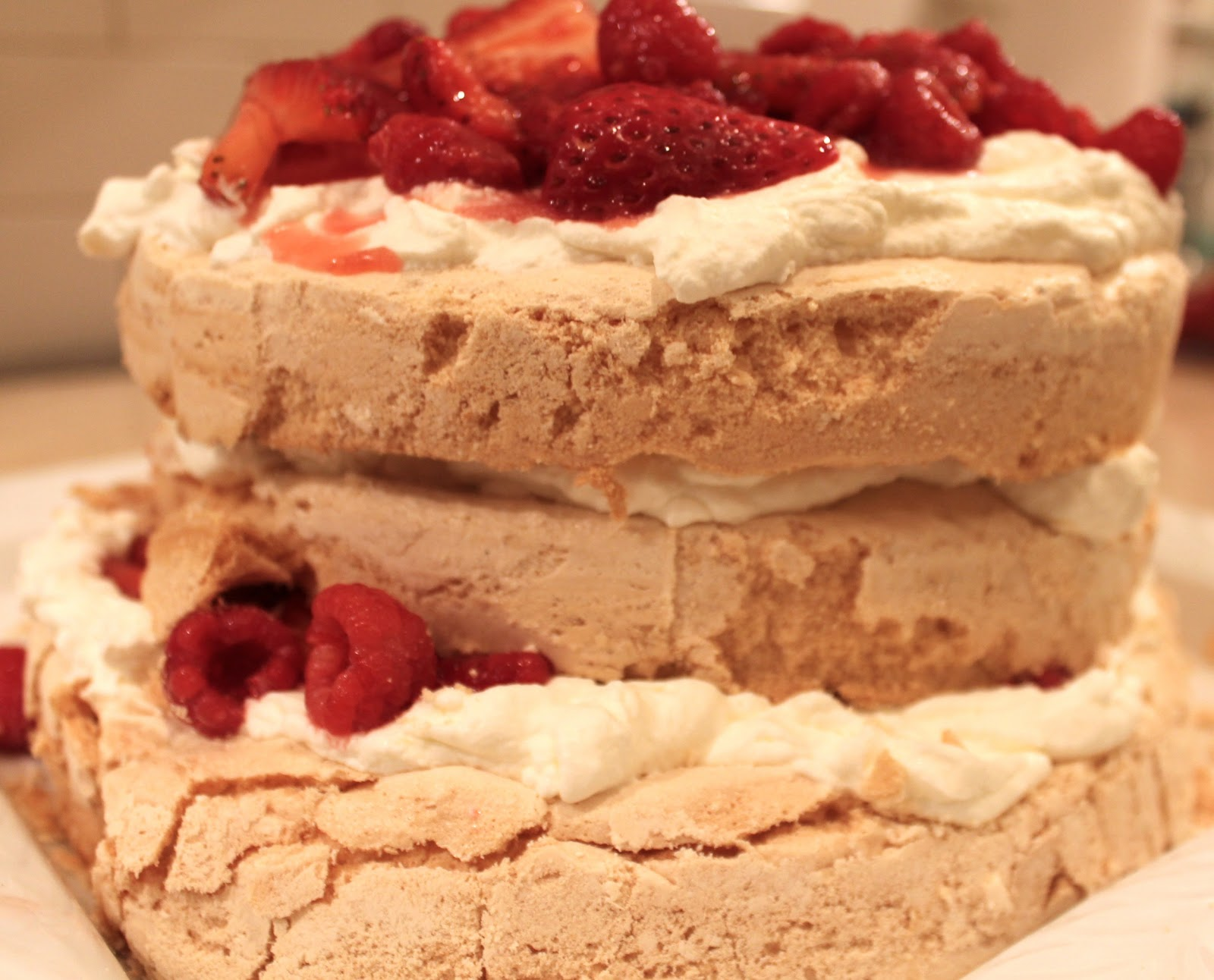 ... layer berry and brown three layer berry and brown brown sugar pavlova